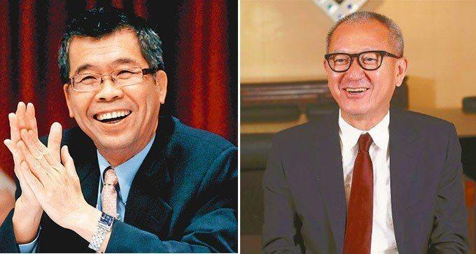 聯發科董事長蔡明介(左)、國巨董事長陳泰銘(右)。 報系資料照