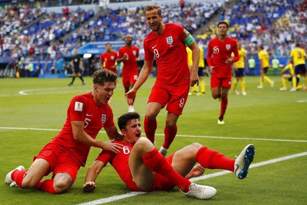 英格蘭擊敗瑞典晉四強。 美聯社