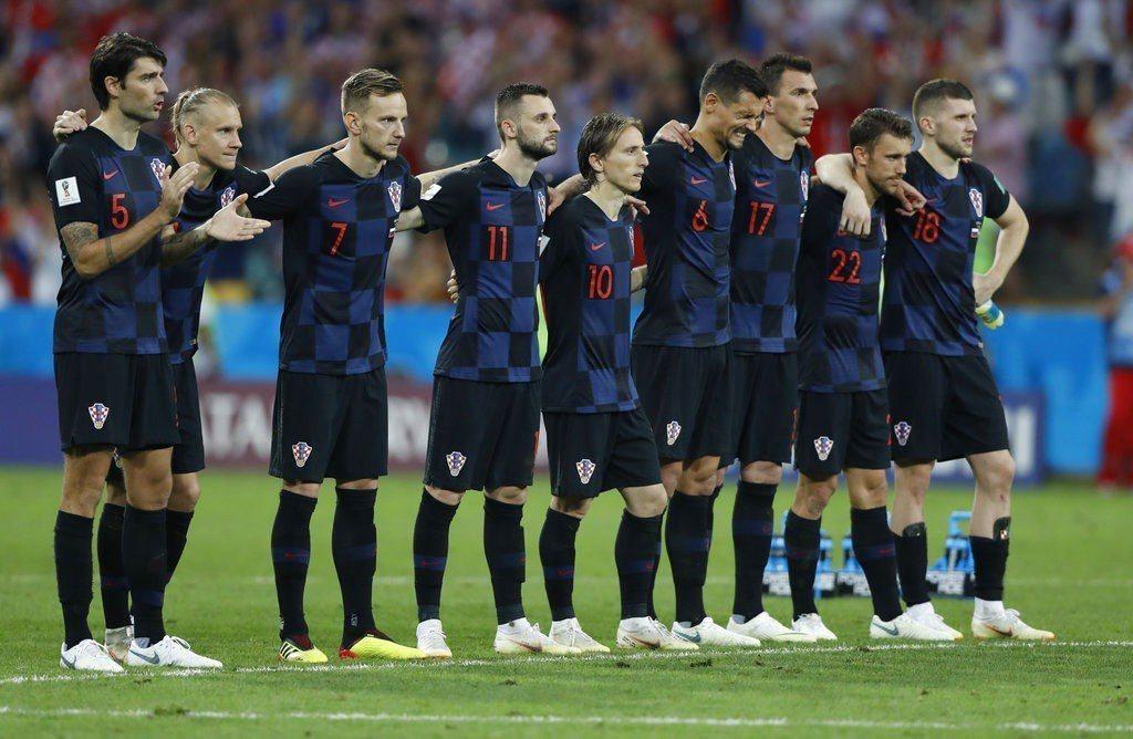 克羅埃西亞在PK戰踢倒俄羅斯。 美聯社