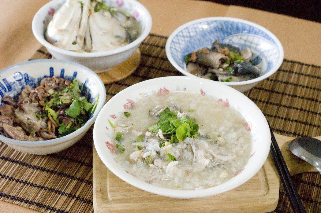阿憨家的鹹粥是傳承福建、彰泉二州的半粥料理方式,就是透過火侯和時間的控制,將特選...