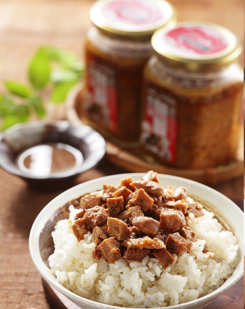 阿憨鹹粥除了鹹粥外,更開發出低油低熱量的魚臊,可拌飯、麵. 業者/提供