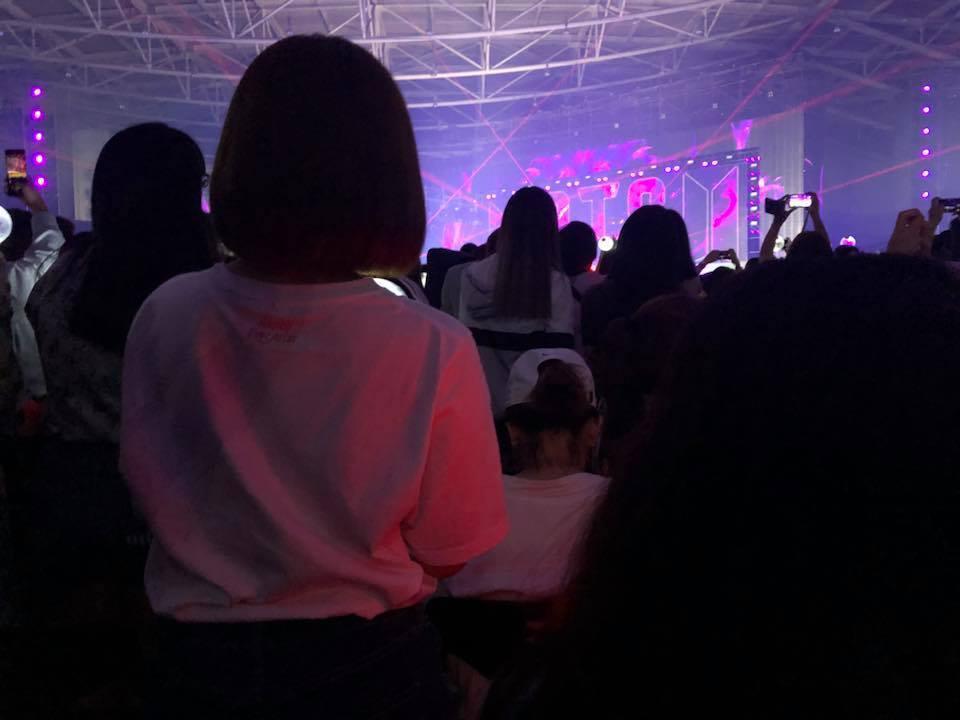 陸元琪的座位被前方歌迷擋住。圖/摘自臉書