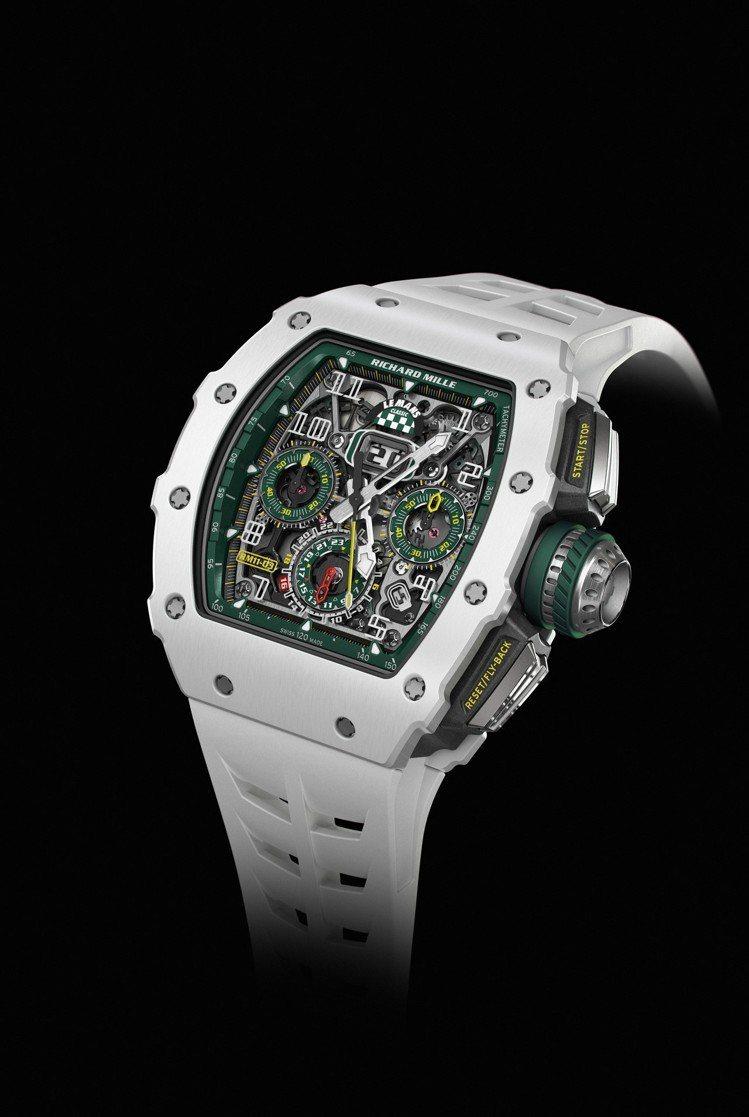 RM 11-03 Le Mans Classic腕表,從計時盤、內表圈和表冠都裝...
