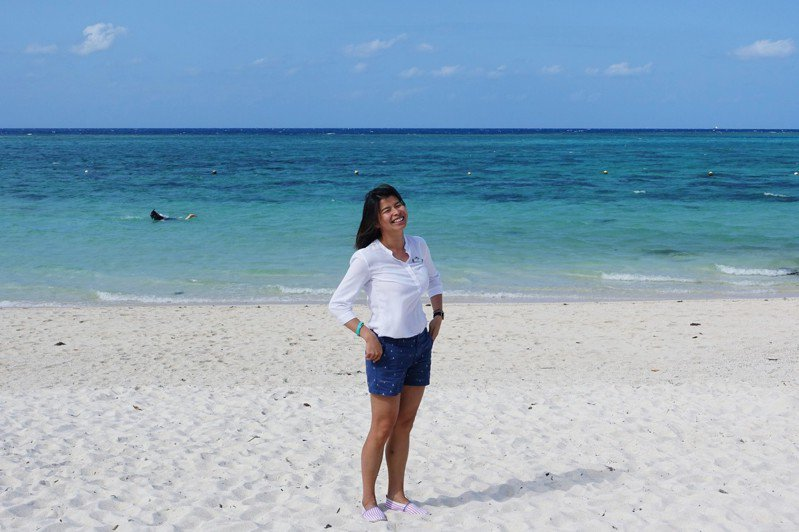 Anna覺得這座島、這座村很純粹、很自然、很開闊。記者沈佩臻/攝影