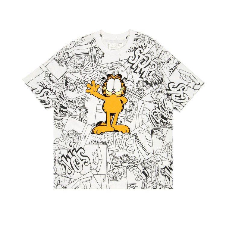 :CHOCOOLATE與經典卡通加菲貓推出聯名T恤,約1,459元。圖/I.T提...