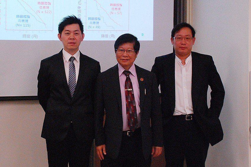 研究團隊曾建偉博士後研究員(左起)、王陸海院士、郭文宏主治醫師。 國衛院/提供