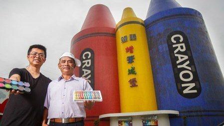 狂熱球迷愛在臉上塗抹各國旗幟,位於宜蘭的蜡藝實業出產的「三色人體彩繪筆」,就是促...