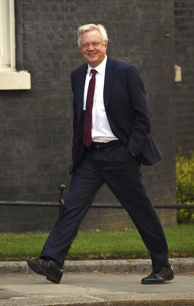 英國前脫歐大臣戴維斯(David Davis)。美聯社