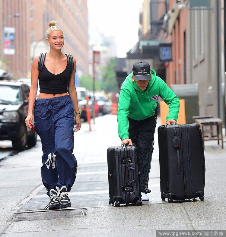 小賈斯汀與海莉鮑溫。圖/達志影像