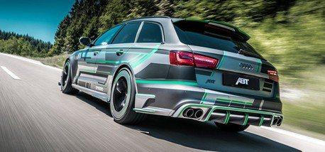 (影音)綠色閃電是你? 可秒殺超跑的ABT Audi RS6-E Hybrid概念車