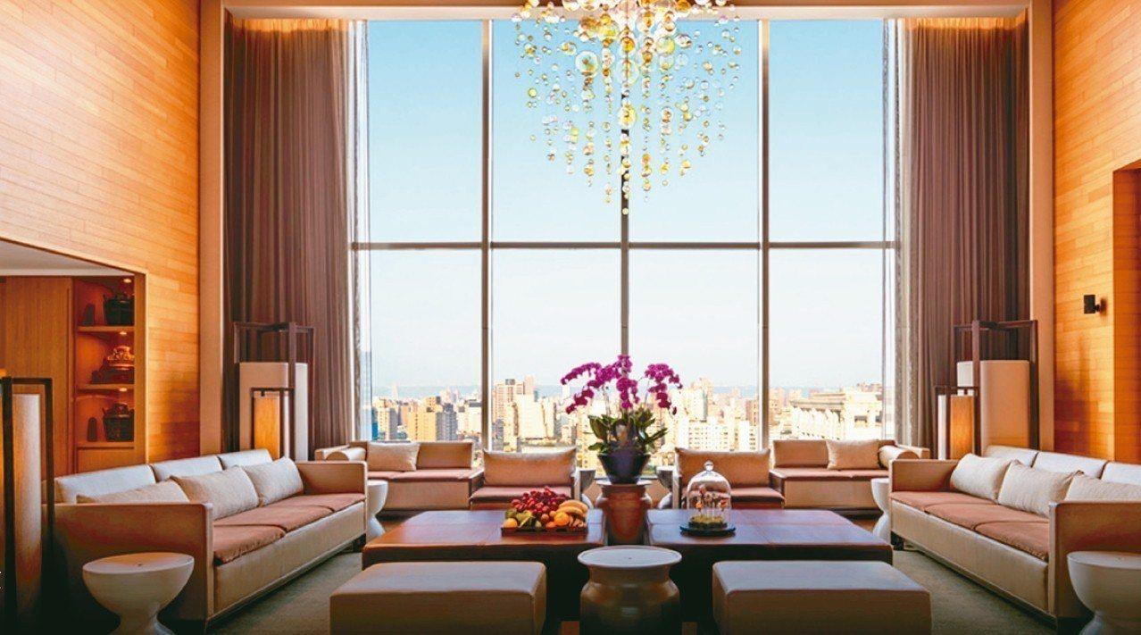 明星來台下榻的台北晶華酒店總統套房。 圖/摘自晶華酒店官網