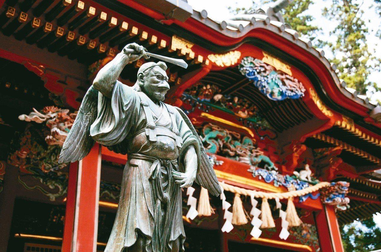 位於東京近郊的高尾山天狗像。 圖/有行旅提供