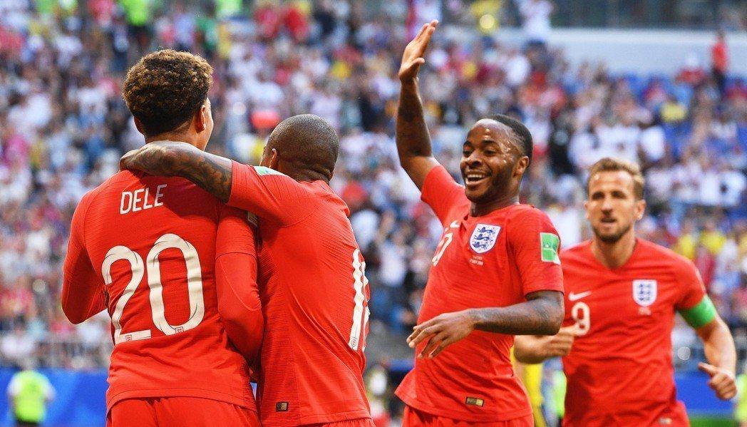 英格蘭隊。 歐新社