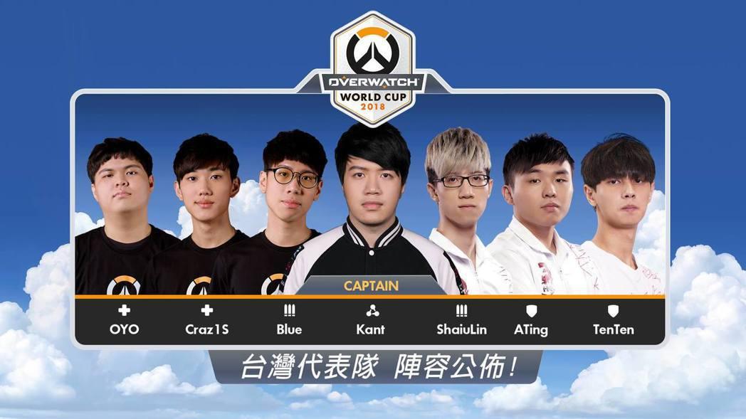 2018 年《鬥陣特攻》世界盃中華台北代表隊