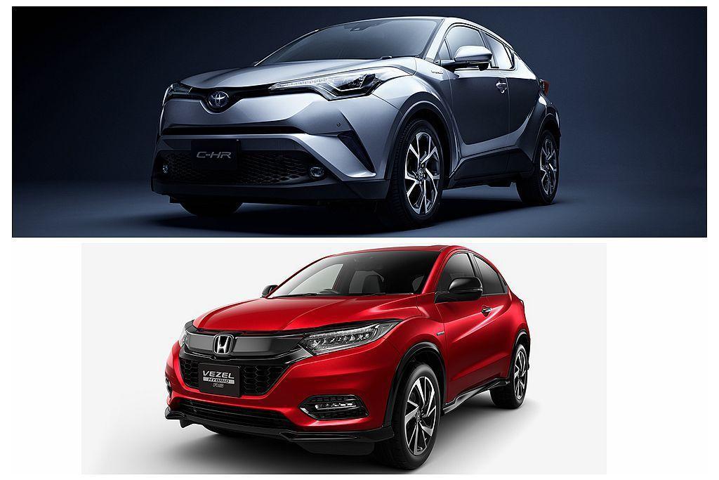 繼去年Toyota C-HR搶下日本年度休旅銷售冠軍後,今年持續維持銷售熱度。不過小改款Honda Vezel(台灣稱為HR-V)的表現也不差。 圖/提供