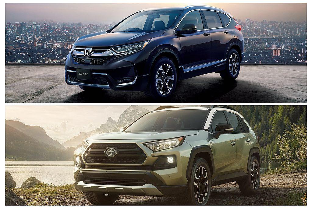 日本要到8月份才會開賣新Honda CR-V。至於全新世代Toyota RAV4則要到明年初才會重返日本市場。 圖/Honda、Toyota提供