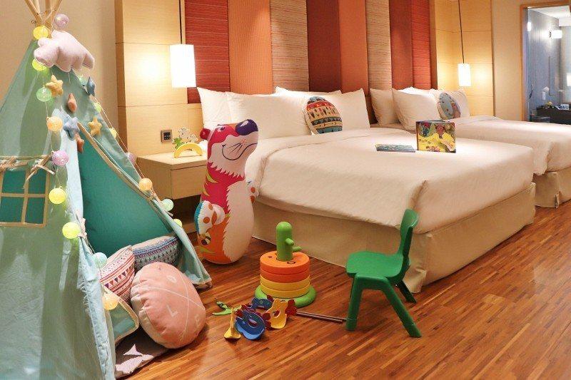 暑期間,豪華家庭客房變身限量親子房。 北投亞太飯店/提供