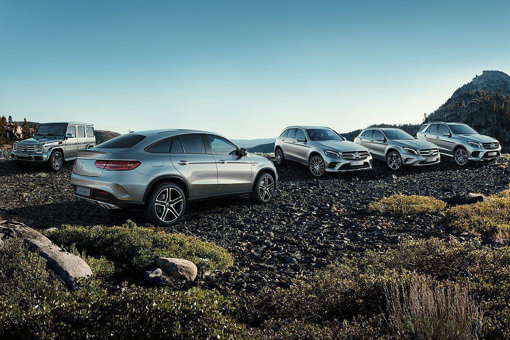 賓士今年上半年於全球共賣出1,188,832輛新車,不僅創下有史以來最好的上半年銷售紀錄,其中休旅車的銷售比例就超過35%。 圖/Mercedes-Benz提供