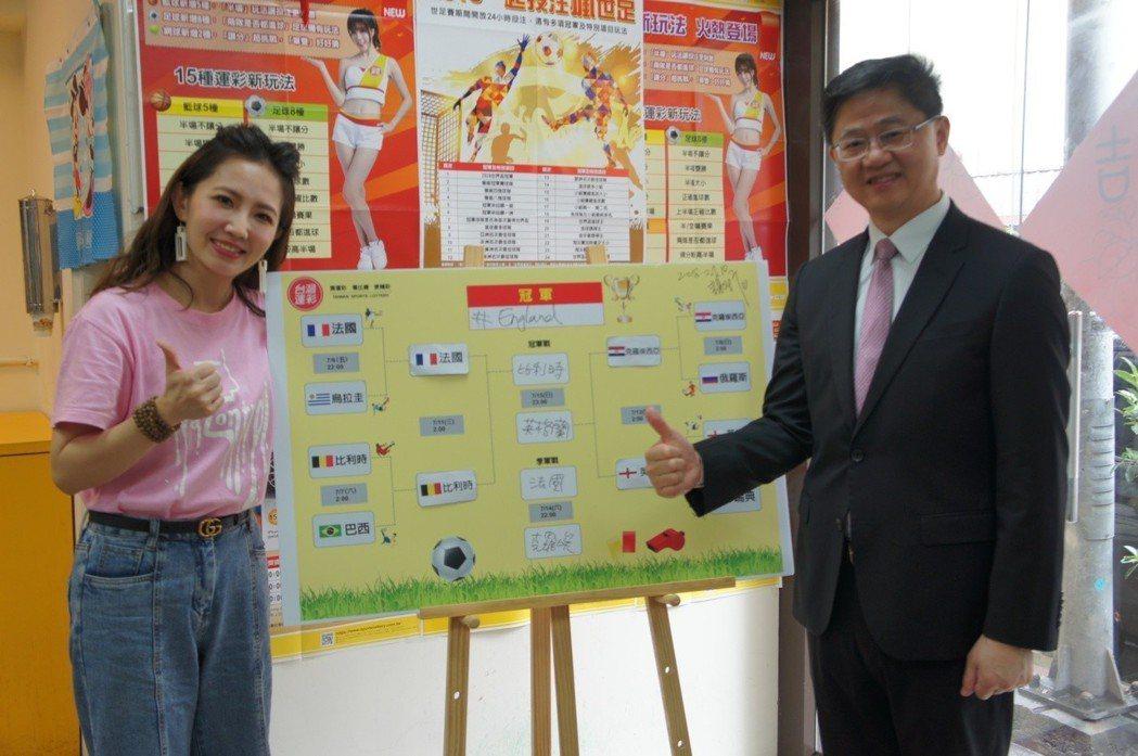台灣運彩林博泰總經理見證謝忻世足預測。圖/台灣運彩提供