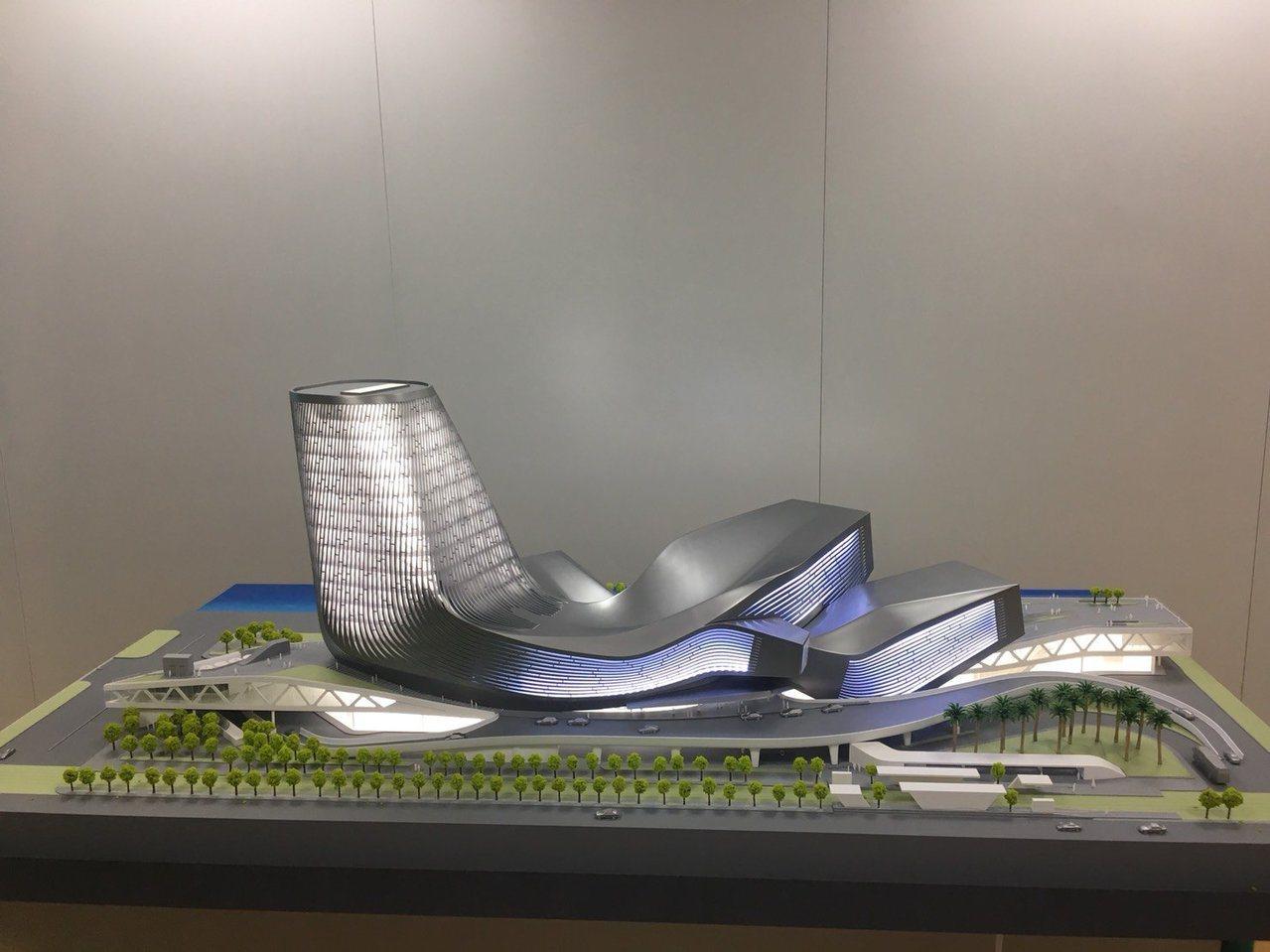 高雄港埠旅運中心完工模擬圖。圖/高雄港務公司提供
