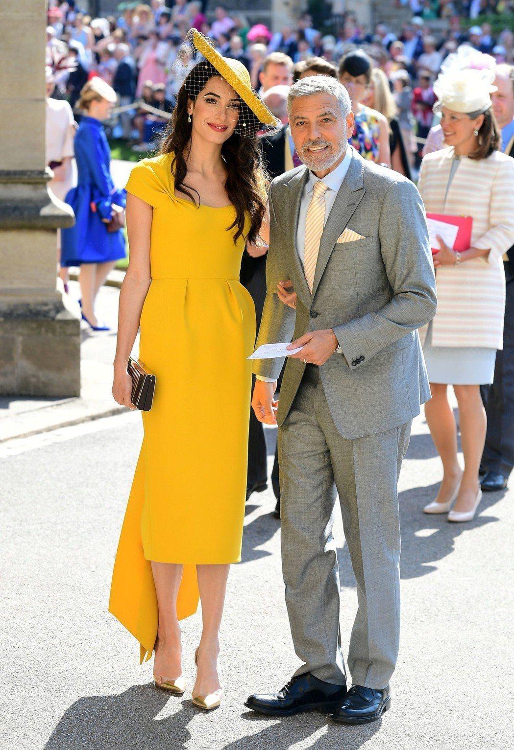 喬治克隆尼與妻子阿默。路透