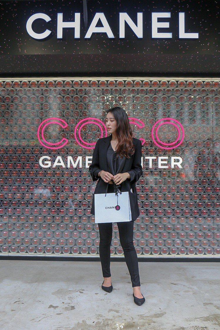 在COCO GAME CENTER每一處都是拍照打卡點。圖/記者謝欣倫攝影