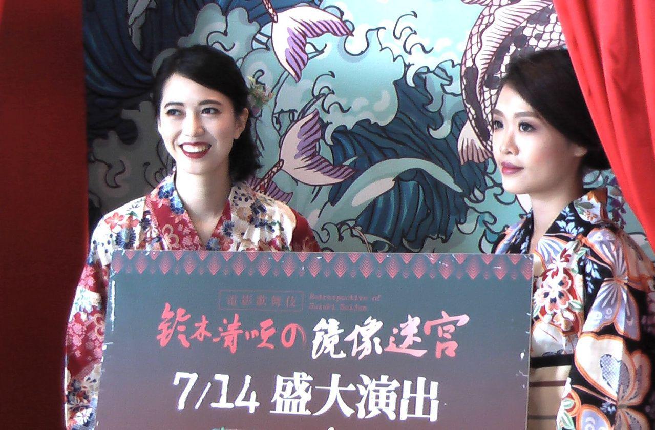 高雄市電影館現場打造「鈴木清順の奇幻歌舞伎町」日式部屋。記者徐如宜/攝影