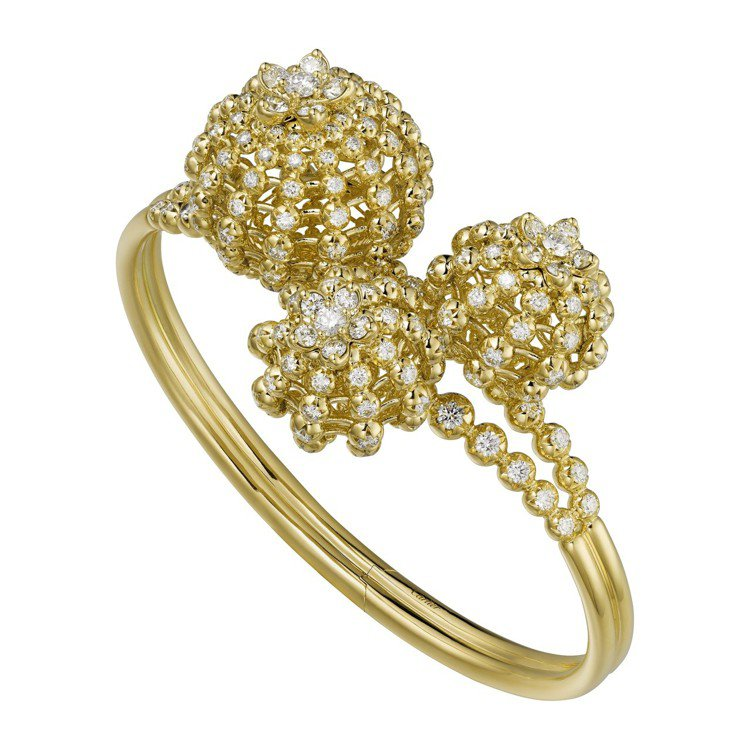 Cactus de Cartier鏤空鑽石手環,18K黃金鑲嵌鑽石,約260萬元...