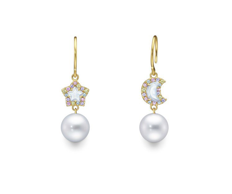 TASAKI by MHT月光石珍珠耳環,118,000元。圖/TASAKI提供