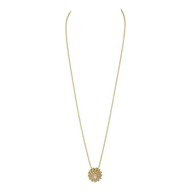 Cactus de Cartier鏤空鑽石項鍊,18K黃金、鑽石,約146萬元。...