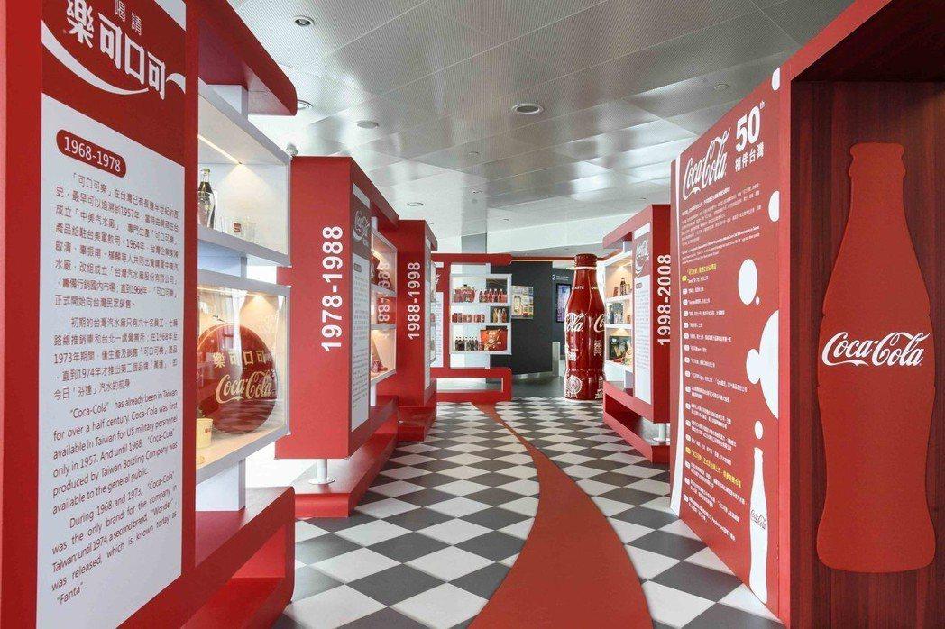 可口可樂在台50周年特展,帶消費者回顧經典紅色潮流。圖/可口可樂公司提供