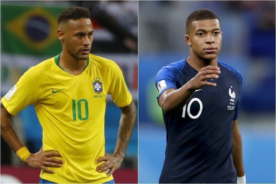 根據一名記者透露,同在巴黎聖日耳曼踢球的內馬爾,與法國新星鬧不合。 美聯社、歐新...