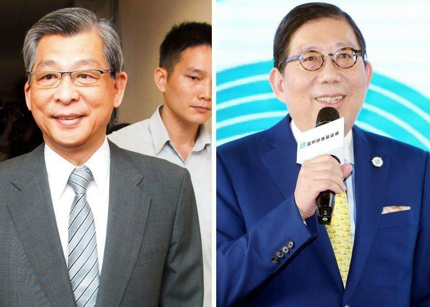 富邦金董座蔡明興(右)國泰金董座蔡宏圖(左)