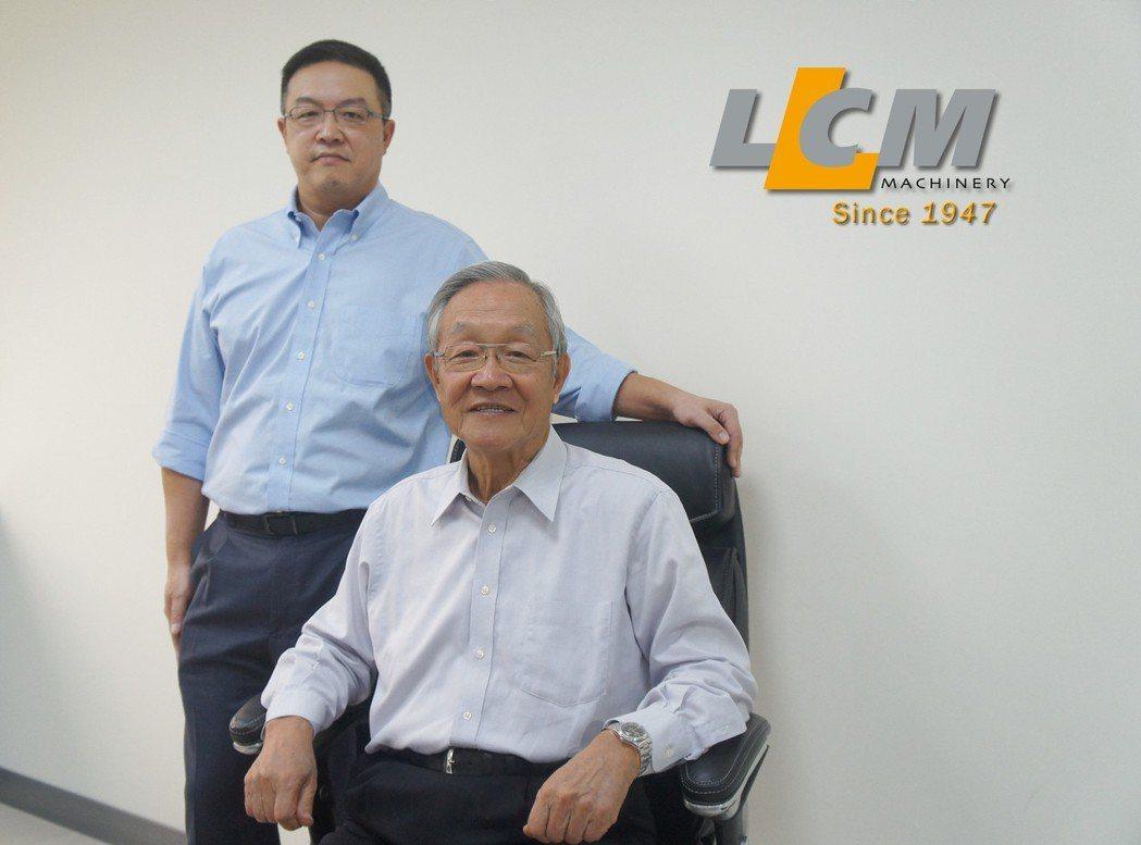 連結機械股份有限公司總經理王振宇(左)與董事長王正雄,連結機械邁入七十週年,代表...