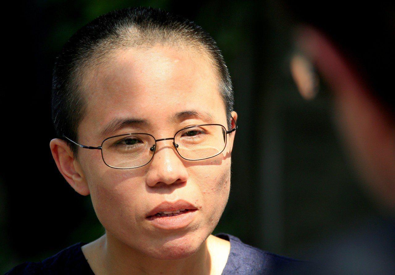 中國已故異議人士劉曉波的遺孀劉霞。 路透