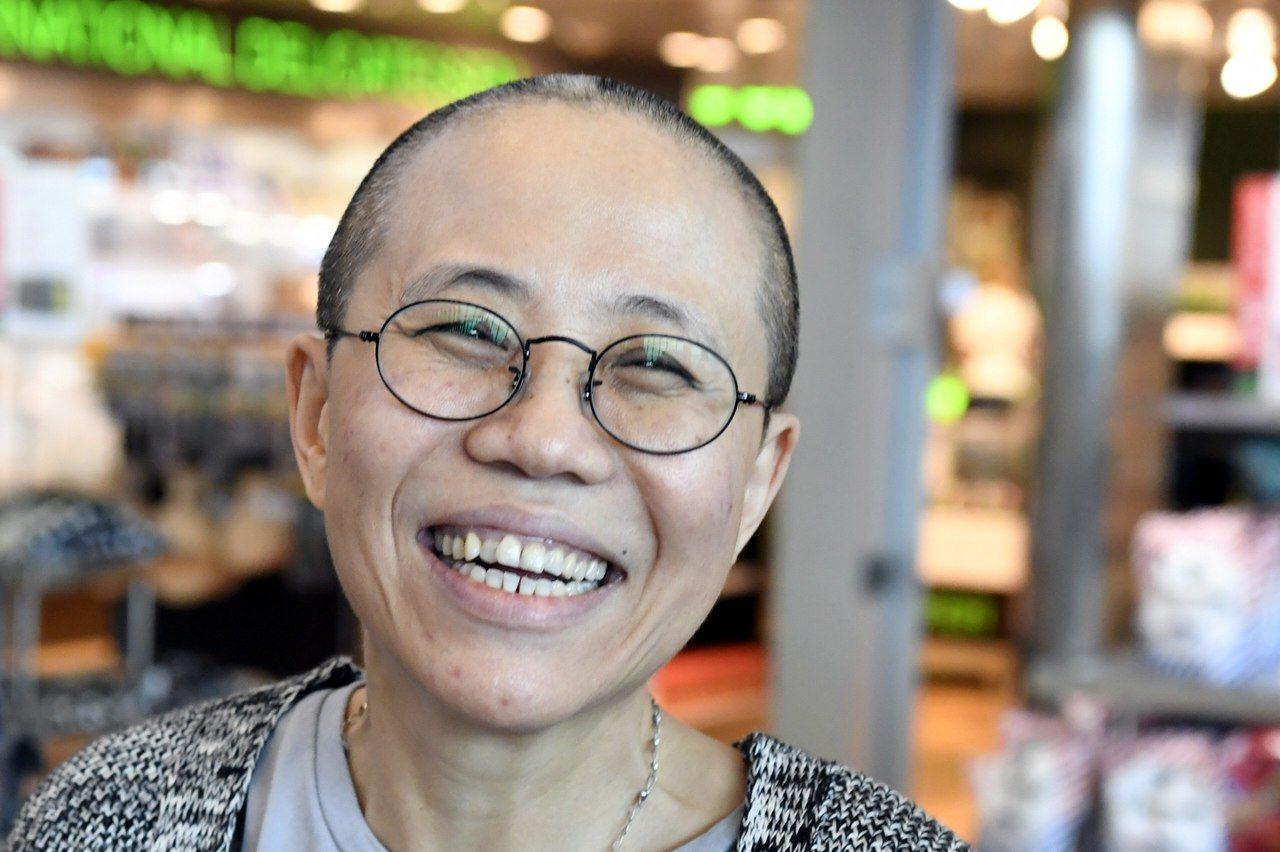 諾貝爾和平獎得主劉曉波的遺孀劉霞。 法新社
