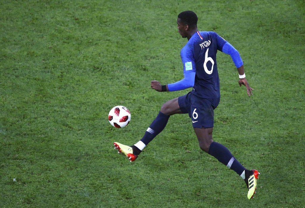 法國隊的博格巴(Paul Pogba)。 美聯社