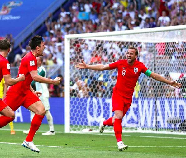 英格蘭將在12日凌晨與克羅埃西亞對戰,搶奪世界盃冠亞軍門票。圖截自 IG:h...