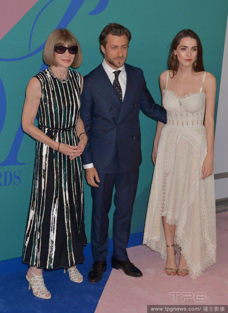(左起)安娜溫圖、女婿Francesco Carrozzini、女兒碧夏佛。圖/...