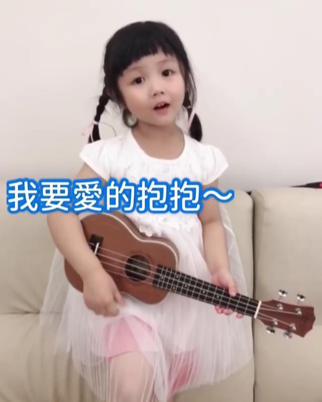 妮妮自彈自唱。圖/擷自IG