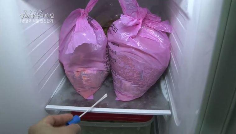 韓國一名家庭主婦因覺得天天倒垃圾太麻煩,竟想出奇招,將垃圾塞進冰箱中。圖/取自「...