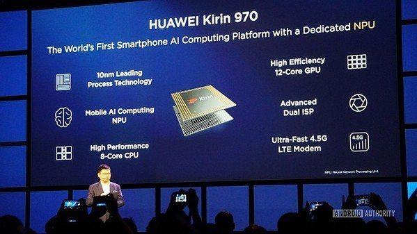 圖3 : 華為發表新一代麒麟970產品(Source:Android Autho...