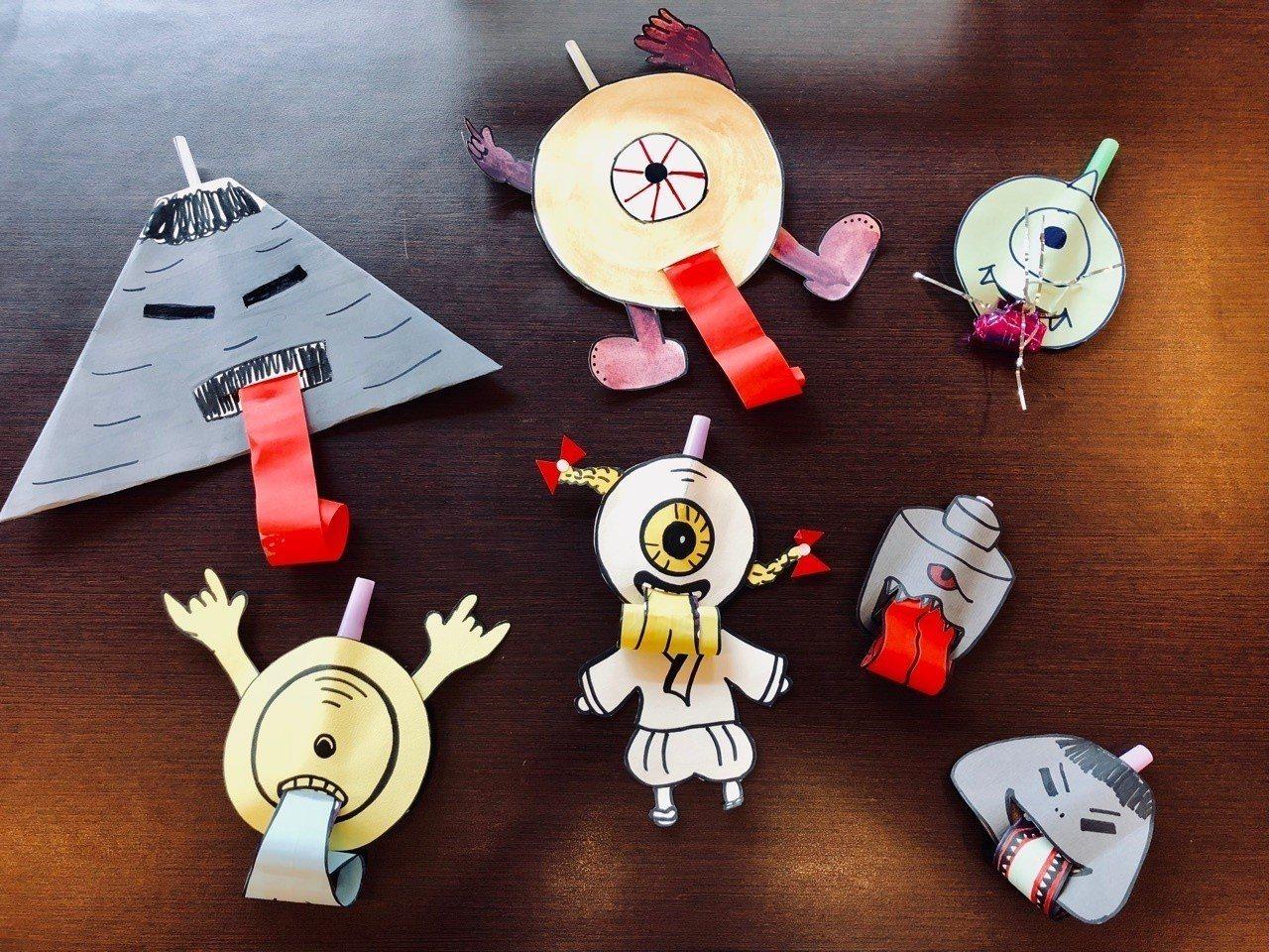 台史博在暑假推出的「仙怪實驗室」,手作DIY系列活動中的「仙怪故事紙玩意」,邀請...