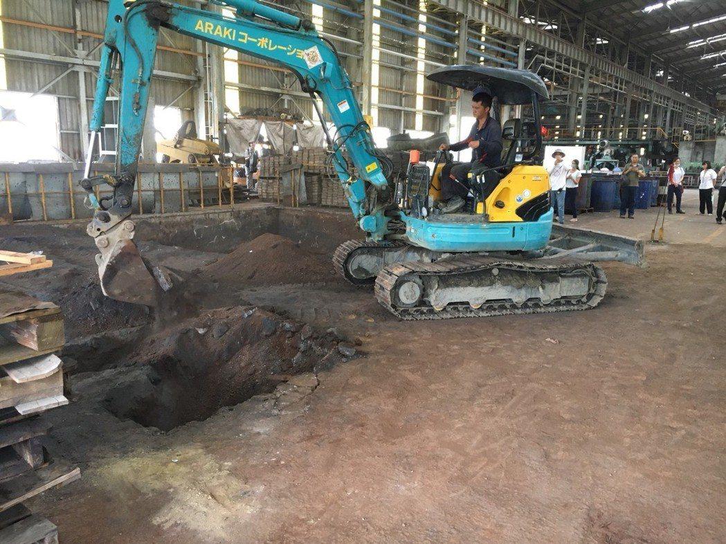 檢警會同南區環境督察大隊等專案小組實地在廠區內8處開挖,經初篩結果重金鉻含量超標...