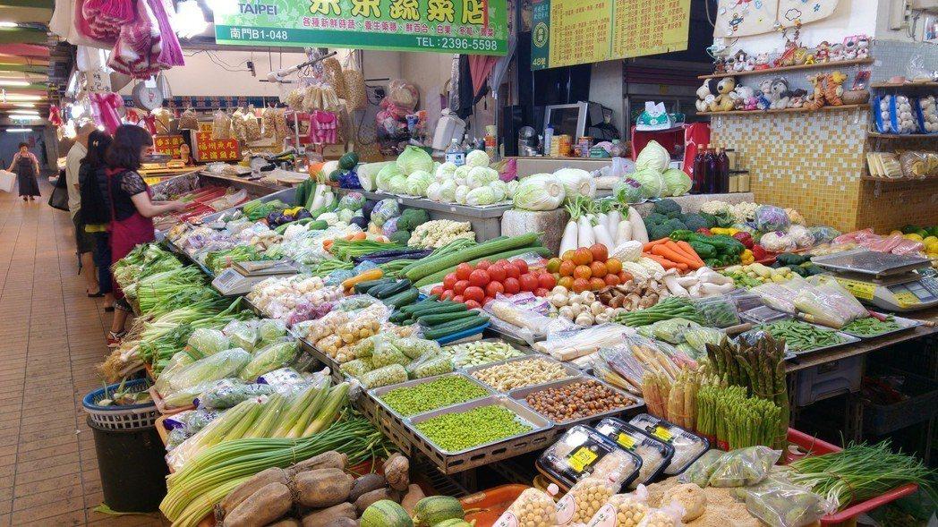 市場蔬果。記者莊琇閔/攝影