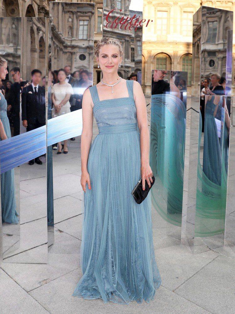 法國女星Mélanie Laurent出席卡地亞巴黎晚宴。圖/卡地亞提供