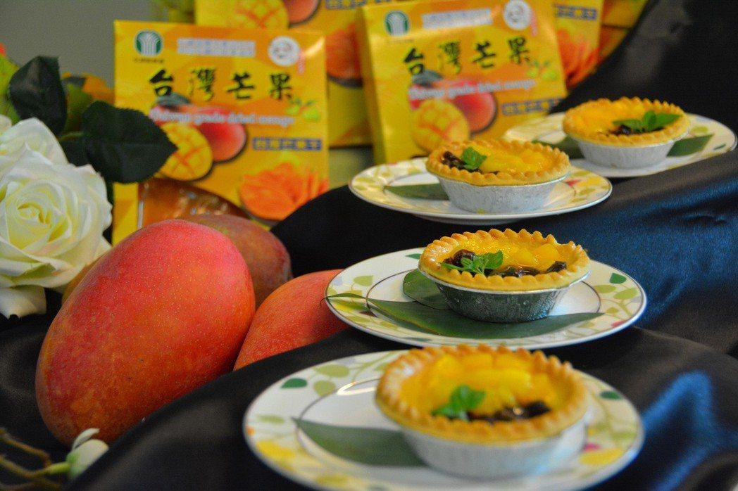 台南國際芒果節左鎮場以芒果和烘焙結合,令人垂涎三尺。記者吳淑玲/攝影