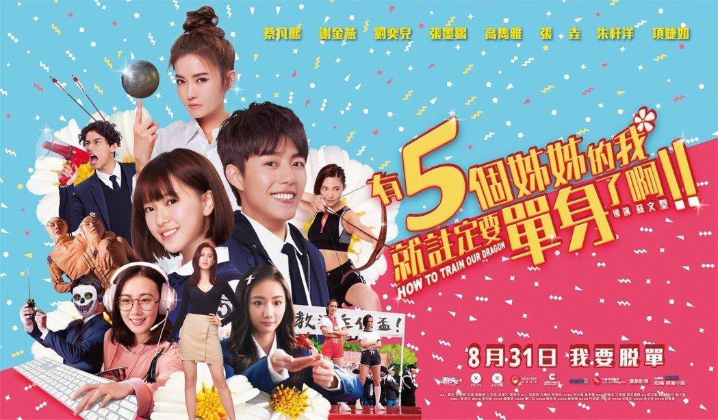 「有五個姊姊的我就註定要單身了啊!」8月31日上映。圖/群星瑞智提供