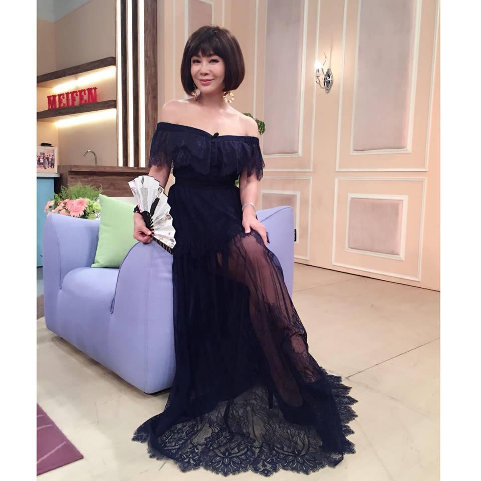 陳美鳳有台灣最美麗的歐巴桑之稱,這稱號當年是陳剛信取的。 圖/摘自臉書