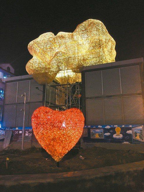 藝術家游文富的作品「TAG海安&愛的OS」。 圖/都市藝術工作室提供
